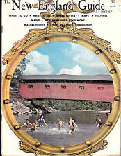 The New England Guide Annual 1966-67 Tourist Magazine Maps Guide