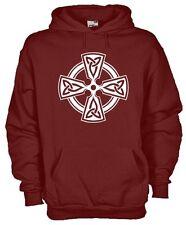 Felpa cappuccio KE35 Celtic Ireland Cross Croce Celtica,Tiocfaidh àr là, Triskel