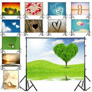 Sweet Love Scenery Wedding Photography Backdrop Studio Photo Background 3/5/7ft