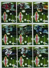 2005 TOPPS CHROME FOOTBALL 15-CARD G.A. GLISTENING GOLD INSERT SET MOSS LT VICK