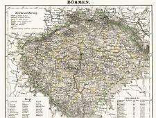 🇨🇿🇨🇿🇨🇿175 Jahre alte Landkarte BÖHMEN Česká Republika Prag Eger 1844