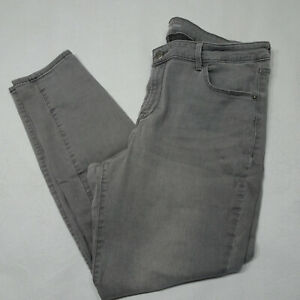 Old Navy Women's Size 16 Gray Rockstar Super Skinny Stretch Jeans