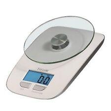 Taylor 11 Lb Glass Platform Digital Kitchen Scale Blue Display White 384521