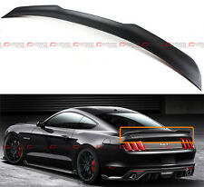 For 2015-17 Ford Mustang S550 H Style Matte Carbon Fiber Rear Trunk Spoiler Wing