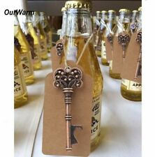 10 Sets, Wedding Decoration Rustic key Bottle Opener+Tags Party Favors