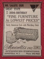 1964 Maurelli's Appliances - Furniture - Minotola New Jersey Advertisement