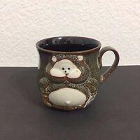 Japanese Stoneware Pottery Drinking Drunk Monkey Sake 3D Coffee Mug Tea Cup