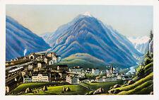 c1870 Schweiz Switzerland Uri Göschenen Kolorierte Aquatinta-Ansicht Dikenmann