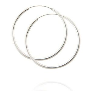 Pair Of 925 Sterling Silver Hoops Size 40mm