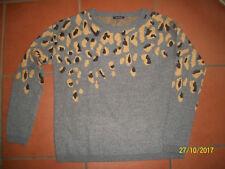 Promod Pulli M grau mit Muster