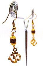 HANDMADE OM Rudraksha Earrings Jewelry Jhumka Hook Drop Dangle Hindu Ethnic HM37