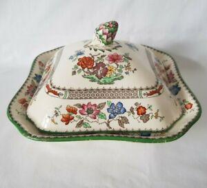 Vintage Copeland Spode English Ceramic Chinese Rose Pattern Vegetable Tureen