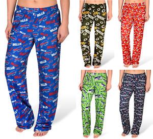 NFL Football Womens Comfy Sleep Lounge Repeat Team Logo Print Polyester Pants