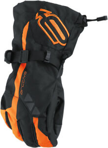 Arctiva 2020 Men's Pivot Snow Snowmobile Gloves Black/Orange All Sizes