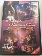 DVD EL AKOPLE FLAMENCO SHOW COSAS DE GITANOS LIVE. Mint Disc.