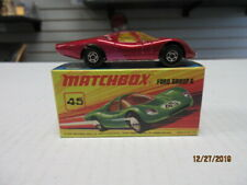 VINTAGE MATCHBOX SUPERFAST #45 FORD GROUP 6 RED IN I BOX