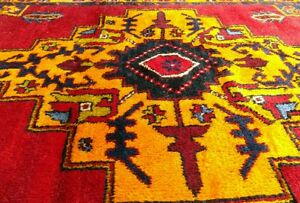 "Rare Antique Wool Pile Vibrant Natural Color Nagorno-Karabahk Runner 5'×10'7"""