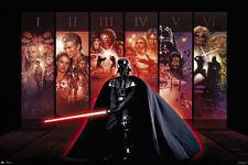 Star Wars Anthology - Movie Poster (Darth Vader - Episode I-Vi Poster Backdrop)
