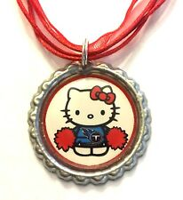 Handmade Tennessee Titans Hello Kitty Bottle Cap Organza Voile Necklace