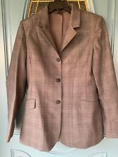Ladies Ovation grey tweed pattern wool hunt hunter Show Jacket/Blazer 14 long