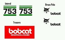 Juego de Pegatinas Adhesivos Stickers Bobcat 753 Sticker Aufkleber Autocollant