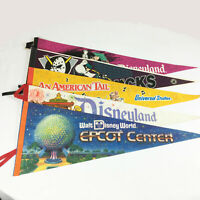 Vintage Disney Lot of Souvenir Pennant Flags Epcot Mainstreet Mickey