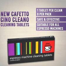 CAFETTO CINO CLEANO CLEANING TABLETS Espresso Coffee Machine Cleaner (8 tablets)