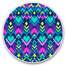 2 x Vinyl Stickers 7.5cm - Pretty Aztec Pattern Tribe Cool Gift #2434