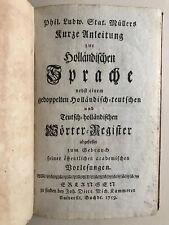 Müllers Holländische Sprache, Sprachen,