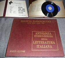 ANTOLOGIA STORICO SONORA DELLA LETTERATURA ITALIANA DISCHI 1 E 2 ALETTI EDITORE-