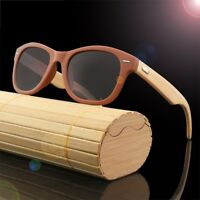 Bamboo Legs Wood Pattern Sunglasses Men Women's Fishing Glasses Wooden Case Box