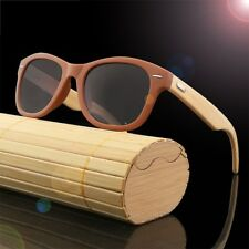 Bamboo Legs Wood Pattern Sunglasses Men Women's Fishing Glasses Wooden Case Box