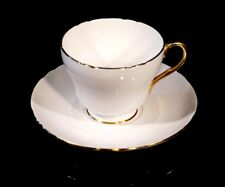 A Beautiful Shelley White And Gold Tea Cup And Saucer