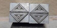 Letterpress Printing Block Dingbat Round Triangle  Blocks Lot Of 4