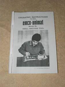 Emco Unimat SL Lathe Manual