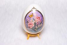 Vintage Collectible Lena Liu Butterfly Garden Porcelain Egg Danbury Mint