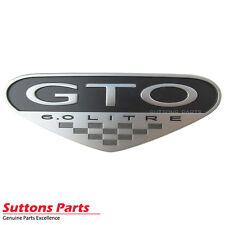 NEW GENUINE CHEVROLET FENDER BADGE GTO 6.0 LITRE PART 92164182
