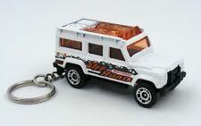Custom Keychain Land Rover Defender 110 White Key Chain Ring Fob