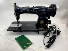 Vintage Singer Model 15-91 Sewing Machine w/Accesories PARTS or RESTORATION Deco