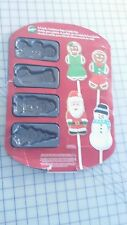 Cookie Pop Baking Pan 8 Cavity Non Stick Wilton Christmas Santa Tree Stocking
