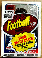 1988 Topps Football Cello Pack ~ With SHANE CONLAN RC BUFFALO BILLS ILB ON TOP