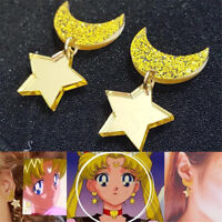 1Pair Anime Sailor Moon Cosplay Cute Kawaii Star Space Earrings Acrylic