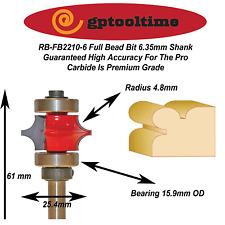 Router Bit Full Bead Bit RBFB2210-6  6.35mm Shank