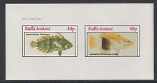 GB Locals - Staffa 3543 - 1982  FISH  imperf sheet of 2 unmounted mint