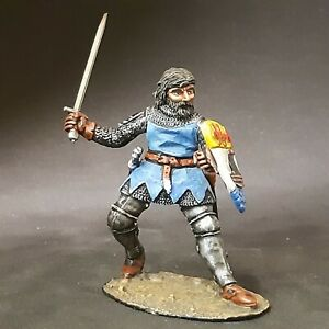 Tin soldier, knight, HAND-PAINTED, 54 mm 1/32