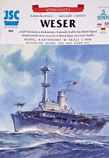 German WW II Weser Aircraft Carrier Paper Waterline Model Scale 1:400