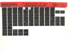 Honda CL125 CL125A SS125 SS125A 1967 68 1969 Parts List Catalog Microfiche a764