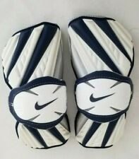 Nike Huarache Size Medium White/Blue Lacrosse Protective Arm Guard Pads