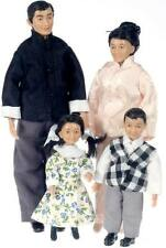 Porcelain Doll Set - Asian Family by Drummond SD0056 -  1/12 scale miniature