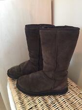 Genuine Ugg Dark Brown Tall Boots Size 5